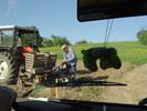 Der Traktor wird vorbereitet