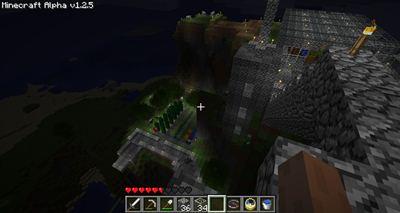 Minecraft Blick aufs HQ