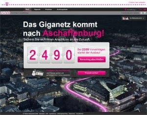 FTTH Aschaffenburg Webseite