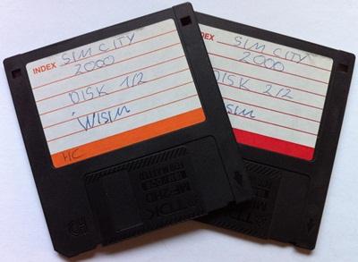 SimCity 2000 auf Disketten