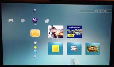 Bild des PlayStation-3-Menüs