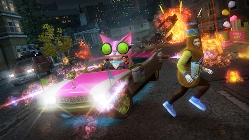 Screenshots aus dem DLC Genkibowl VII für Saints Row: The Third