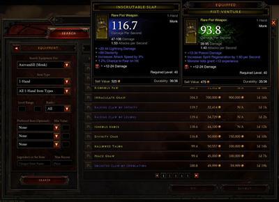 Screenshot vom Diablo III Auktionshaus