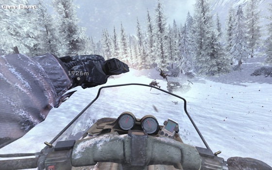 Schneemobil fahren in Call of Duty 2: Modern Warfare 2