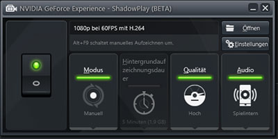Screenshot von nVidia Shadowplay