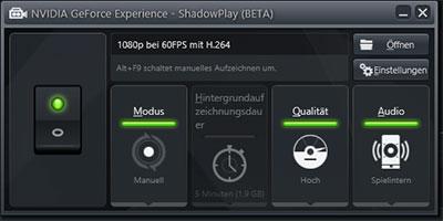 Screenshot von nVidia Shadowplay