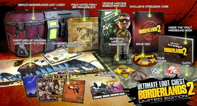 Herstellerbild zur Borderlands 2 Deluxe Vault Hunter's Collector's Edition