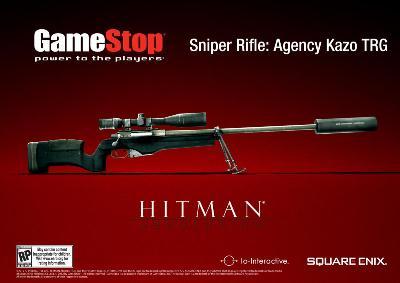 Werbeflyer zur Pre-Order-Aktion von Hitman 5 bei GameStop