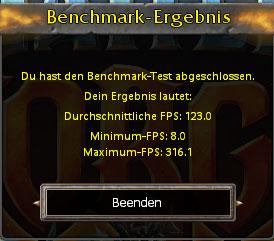 Benchmarkergebnis von BattleForge