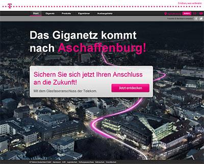 Glasfaserausbau Aschaffenburg
