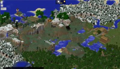 Minecraft-Kartenausschnitt