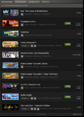 Steam New Releases vom 21.05.2014