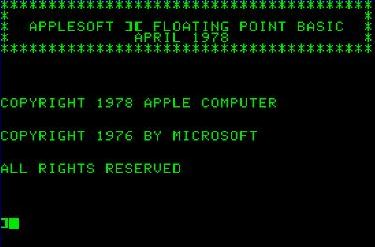Applesoft II Floating Point Basic