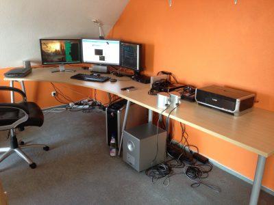 Der Arbeitsplatz des Webmasters