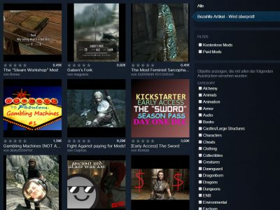 Skyrim Steam Workshop vom 26.04.15