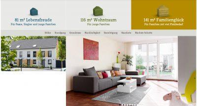 Reihenhaus (Auszug der Webseite der deutschen Reihenhaus AG)