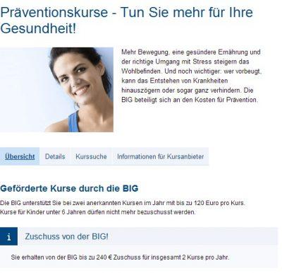 Infoseite von BIGdirekt
