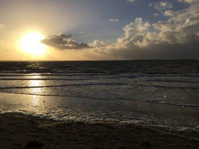 Die Nordsee mit Wasser